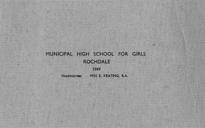 Municipal High School for Girls, Rochdale, 1949