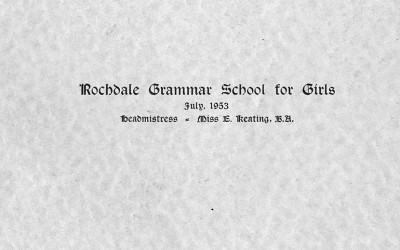 Rochdale Grammar School for Girls, 1953