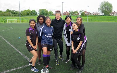 Manchester City Ladies & England midfielder, Jill Scott, coaching session