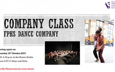 Company ClassFPHS Dance Company