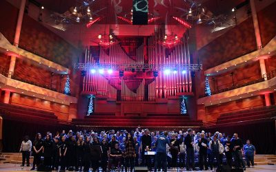 FPHS Choir perform at the Bridgewater Hall Manchester Inspirational Voices 'Joy' Concert with Michelle John, poet Tony Walsh and the BBC Breakfast Team