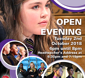 Open Evening, 2nd October 2018